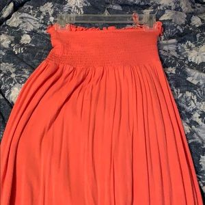 Pink coral Juicy Couture strapless maxi dress SM